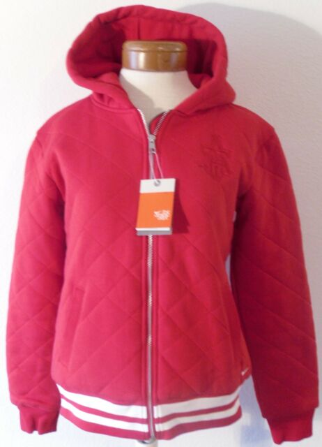 6e9826cfc Nike Womens Quilted Hooded Varsity Jacket M Red