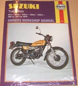 Haynes Manual SUZUKI TC TS TC90 TS90 TC100 TS100 TC125 TS125 TC185 ...
