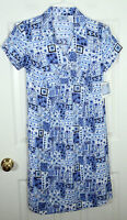 Baby And Me Kohls Maternity Floral Patchwork Dress Blue Navy White Womens S