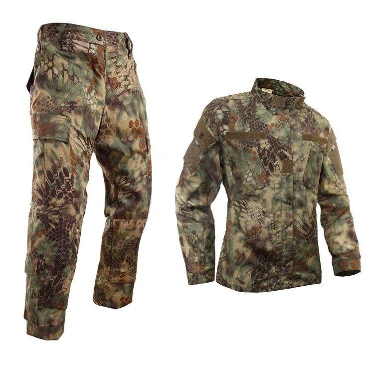 Tactical Bionic Python ropa de caza camuflaje Traje Conjunto De Chaqueta Y Pantalones