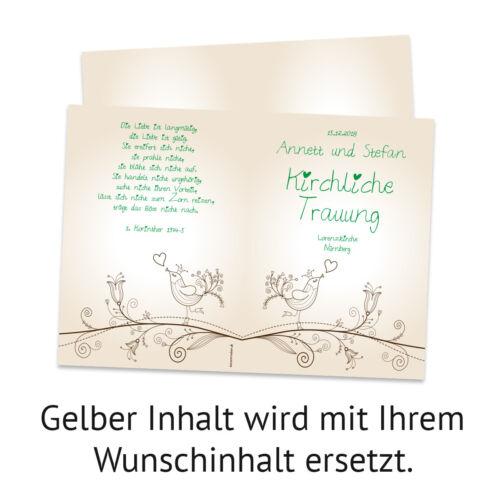 Kirchenheft Hochzeit individuell Klappkarte Liebesbaum