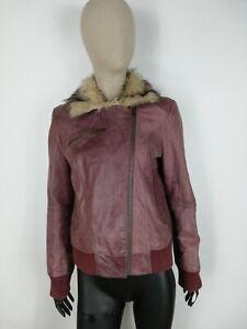 BERSHKA-CAPPOTTO-DI-PELLE-Giubbotto-Coat-Jacket-Giacca-Tg-L-Donna