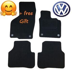 Tailored-Black-Car-Floor-Mats-Carpets-Round-Clip-for-VW-Passat-B6-B7-2005-2015