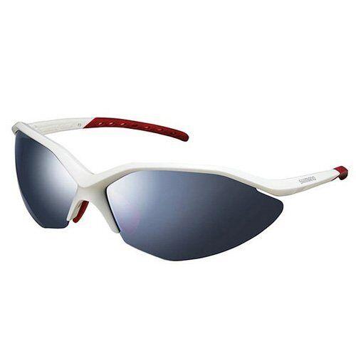 Metallic White x Red Shimano CE-S52R Cycling Sport Sunglasses