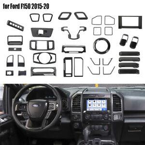 35pcs Interior Accessories Decor Panel Trim Cover Kit for Ford F150 2015-20