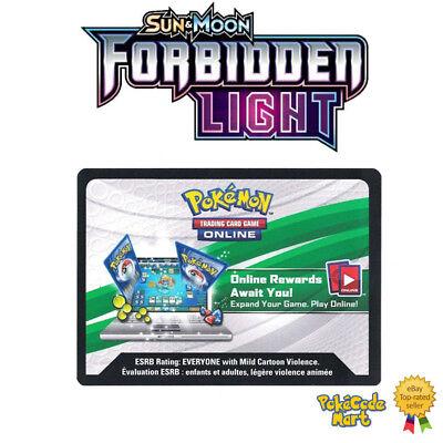 Pokemon Forbidden Light Online Booster Codes for TCGO 5-100 Code Packs SM6 Codes