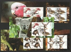AUSTRALIA-2019-SINGPEX-2019-INT-039-L-STAMP-EXHIBITION-FAUNA-5-X-SERIALISED-SHEETS