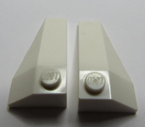 2 LEGO Parts~ Pair Wedge 4 x 2 Triple Left /& Right 43710 43711 WHITE