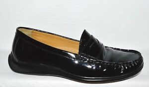 8f59e852e2a COLE HAAN AIR SZ 6 M BLACK PATENT LEATHER MOCCASINS LOAFERS FLATS ...