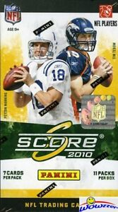 2010-Score-Football-HUGE-Factory-Sealed-Blaster-Box-with-77-Cards-WOWZZER