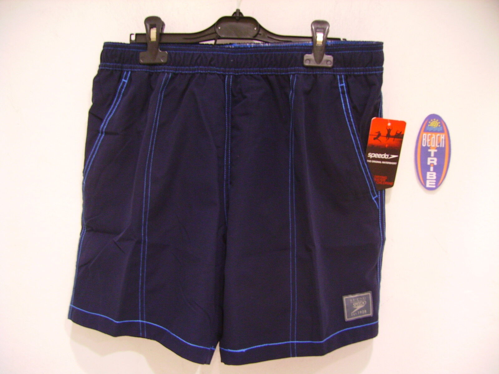 SPEEDO BOARDSHORT SHORTS SEA COSTUME CHK TRIM LEIS 809264A137 NAVY blueE M