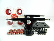 Paris 180mm Blk Longboard Trucks + Blood Orange Morgan 70mm 82a White/Red Wheels
