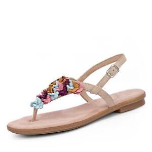 Details zu Rieker Damen Sandale Sandalette Zehentrenner Sommerschuh Kunstleder Schuhe rosa