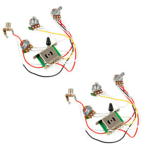 White Knobs as described 5 Way Electric Guitar Wiring Harness Pickup for ST Musical Instrument Parts