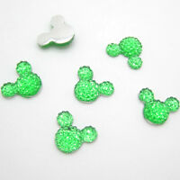 New 40pcs 14MM Resin Mouse Flat back Scrapbooking For DIY craft making Green #2