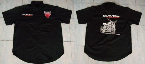 NEU DUCATI DIAVEL CARBON Fan Hemd schwarz shirt blouse camisa chemise camicia