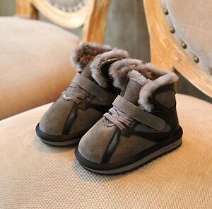 Children-039-s-Unisex-Winter-Outdoor-Boots-Cotton-Shoes-Warm-Fleece-Lined-Snow-Boots