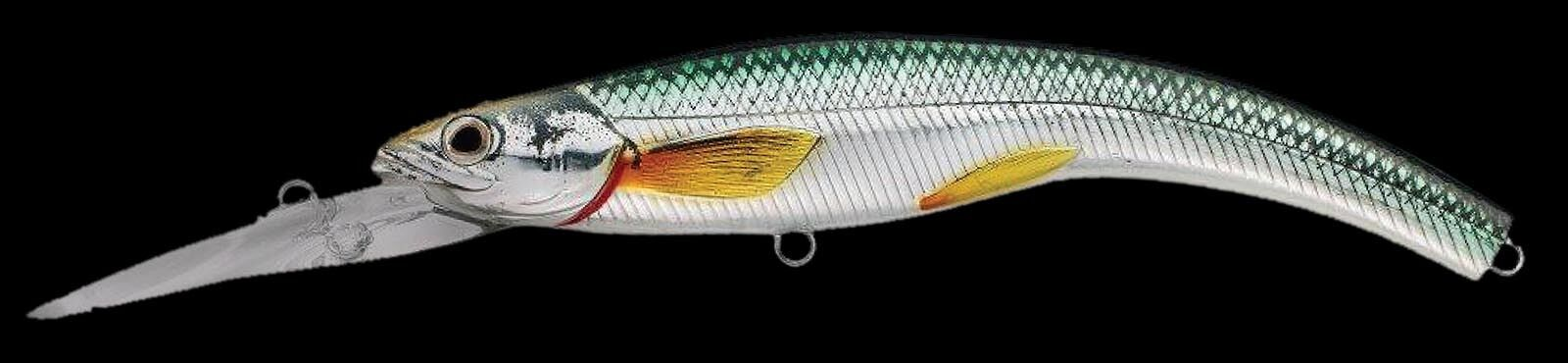 Live Target Rainbow Smelt Banana Bait Shallow Dive 91 Gold Black RSB91S-208