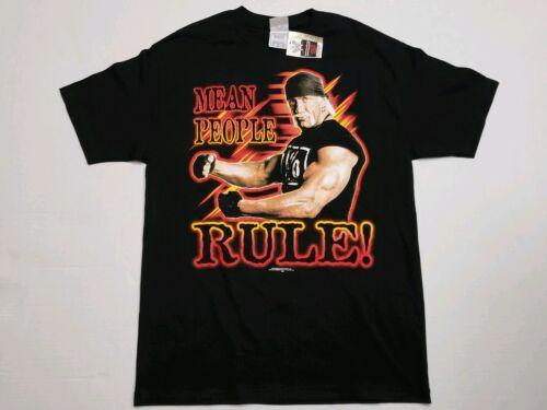 VTG Hulk Hogan NWO WWE Wrestling T Shirt L Portrai
