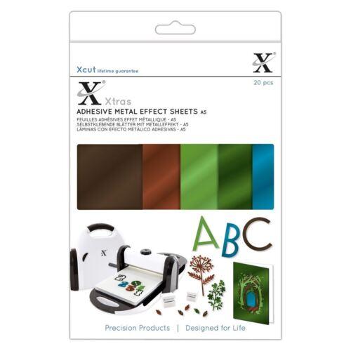 Xcut Asia A5 Premium Craft Adhesivo Metal Hojas De Efecto-Naturals 20 Pack