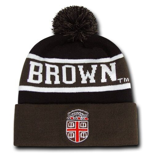 Brown University Bears NCAA Winter Pom Cuff Ivy League Knit Ski ... c4859b4b7