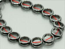 10 Stk. Hämatit Hematit Perlen Rechteck 10mm ps036