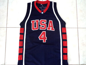 Image is loading ALLEN-IVERSON-4-TEAM-USA-BASKETBALL-JERSEY-NEW-