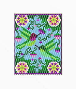 how to follow a pony bead pattern