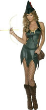 SEXY MEDIEVAL COSTUME ROBIN HOOD OUTFIT WOMEN Lady Pirate Fancy Dress Size 16-18