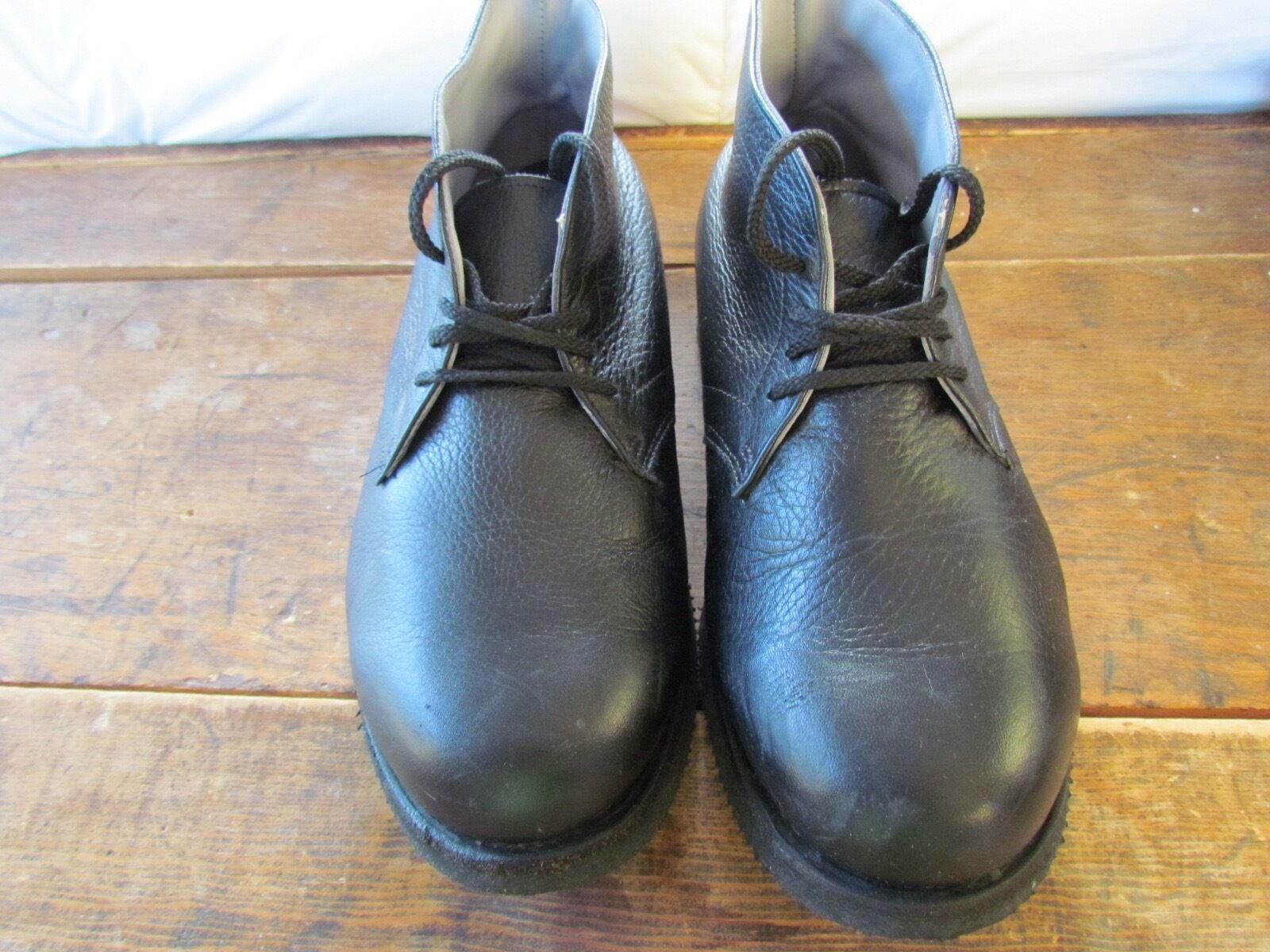 Modelo masculino P.W. cuero negro pequeño chaukka ll 9.2 - 2w vestido y botas de ocio
