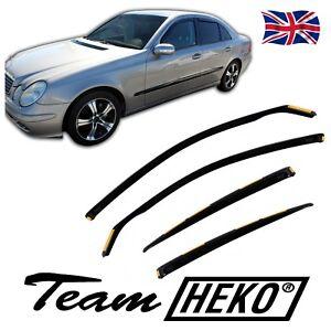 HEKO TINTED WIND DEFLECTORS for MERCEDES E-CLASS W211 2002-2009 4pc