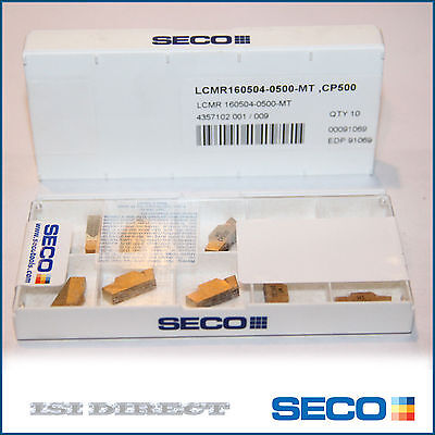 LCMR 160504-0500-MT CP500 SECO *** 10 INSERTS *** FACTORY PACK ***