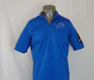 348f98fef6e8 Men s Detroit Lions Nike Lockdown Half Zip Short Sleeve Jacket New ...