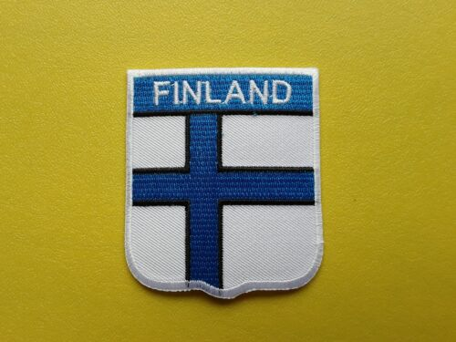 WORLDWIDE FREEPOST COUNTRY SHIELD FLAG SEW /& IRON ON PATCH FINLAND