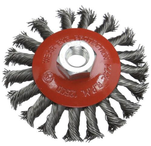 Brosse circulaire à fils torsadés-100 mm-Filetage femelle M14x2-Max 12500 tr//min