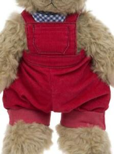 ALICE'S BEAR SHOP CLOTHING - COBBY'S RED DUNGAREE SET
