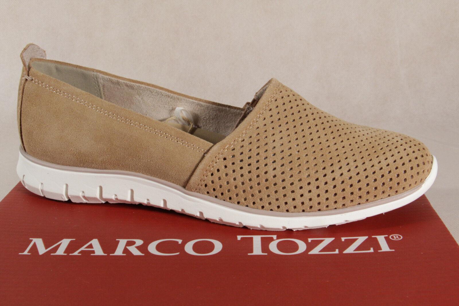 Marco Tozzi braun Damen Slipper Ballerina Leder braun Tozzi  24709 NEU 1343b0