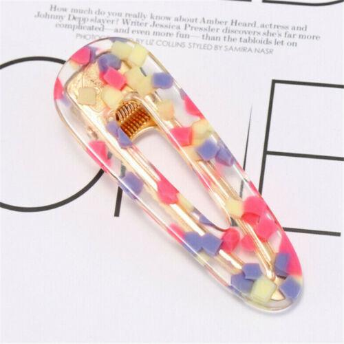 Elegant Crystal Barrettes Hair Clip Slide Snap Hairpin Headdress for Women Girls