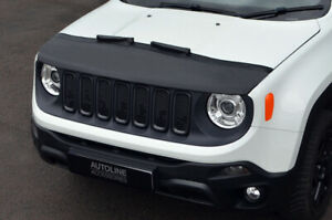 Black-Front-Bonnet-Bra-Protector-To-Fit-Jeep-Renegade-2015