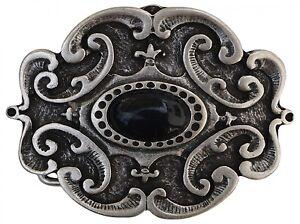 d3fb6ed4f5f8 fronhofer Grand Boucle de ceinture motif floral noir Pierre boucle 4 ...