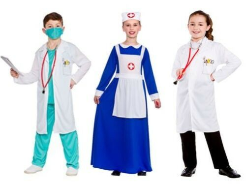 Child Doctor Nurse Costume Hospital Surgeon Kids Fancy Dress