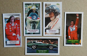 Motor Racing  Group of 5 Score motor sport UK sports cards  F1 Hunt Senna Hill - Market Harborough, United Kingdom - Motor Racing  Group of 5 Score motor sport UK sports cards  F1 Hunt Senna Hill - Market Harborough, United Kingdom