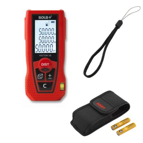 50m Gürteltasche 71024101 Sola Laser-Entferungsmesser VECTOR 50 Messbereich