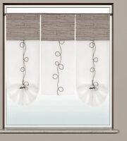 3er Set Flächenvorhang Scheibengardine Bistrogardine 2231 30x60/2x30x80cm grau