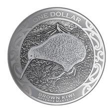1 oz Silber Kiwi Neuseeland 2019 - 1 New Zealand Dollar im Blister Stempelglanz