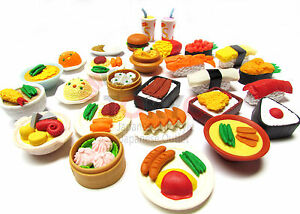 20 of Assorted IWAKO Japanese Puzzle Eraser - Restaurant Food Collection (20pcs)