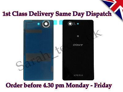 Sony Xperia Z3 Compact D5803 D5833 Batterie Abdeckung Glas mit Kleber Schwarz