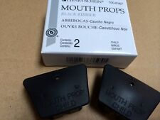 DENTAL MOUTH PROP BLACK RUBBER CHILD MEDIUM LATEX FREE TWO IN A BOX , Miltex