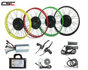 "48V Fat E-bike Conversion Kit with LED Speed Throttle for 20/""//24/""//26/"" Snow Bike"