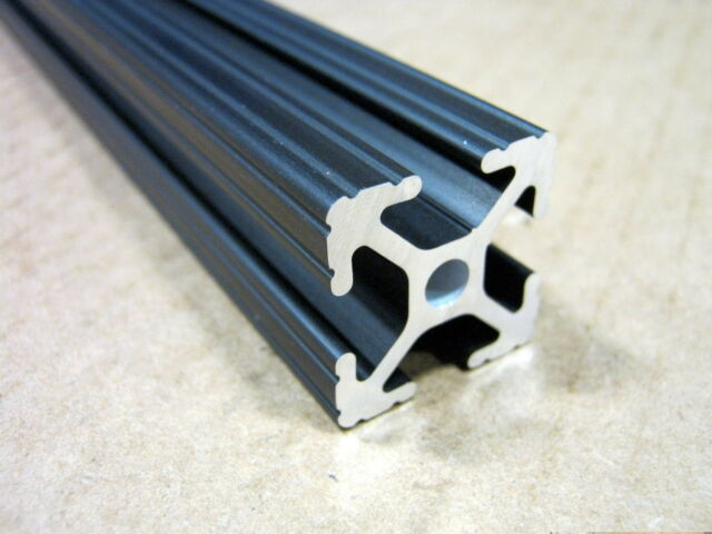 "80//20 Inc 10 Series 1"" x 1"" Aluminum Extrusion Part #1010-BLACK x 12/"" Long N"